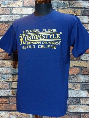 kustomstyle カスタムスタイル Tシャツ (KST1901INDFR) eternal flame カラー:インディゴブルー
