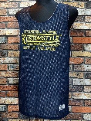 kustomstyle カスタムスタイル  タンクトップ (KSTP1901NY) eternal flame reversible mesh jersey カラー:ネイビー