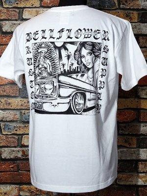 BellFlower ベルフラワー Tシャツ (BFT1901WH) XII カラー:ホワイト