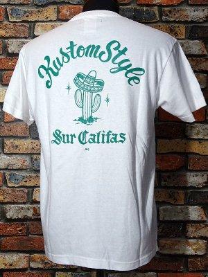 kustomstyle カスタムスタイル Tシャツ (KST1201WHGR) cactus sur califas カラー:ホワイト×グリーン