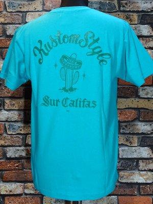 kustomstyle カスタムスタイル Tシャツ (KST1201MI) cactus sur califas カラー:ミント