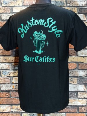 kustomstyle カスタムスタイル Tシャツ (KST1201BKGR) cactus sur califas カラー:ブラック