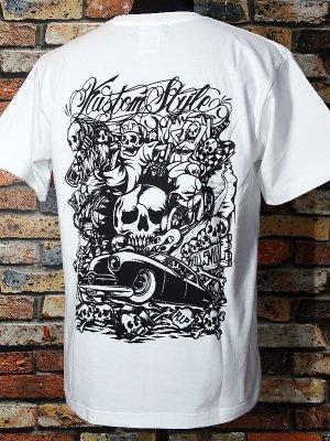 kustomstyle カスタムスタイル Tシャツ (KST0606WH) skullsville カラー:ホワイト