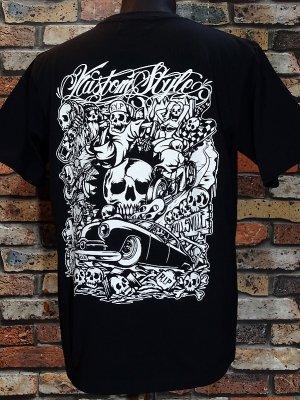 kustomstyle カスタムスタイル Tシャツ (KST0606BK) skullsville カラー:ブラック