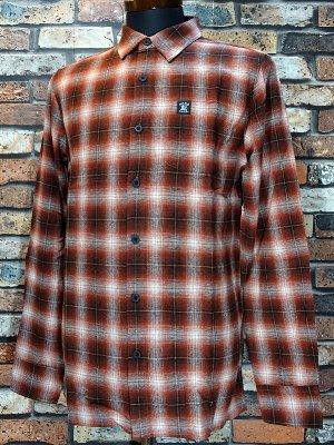 HardLuck ハードラック  長袖フランネル チェックシャツ (PALO FLANNEL SHIRTS)  カラー:レッド系
