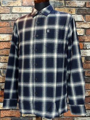 HardLuck ハードラック  長袖フランネル チェックシャツ (THE EIHT FLANNEL SHIRTS)  カラー:ブルー系