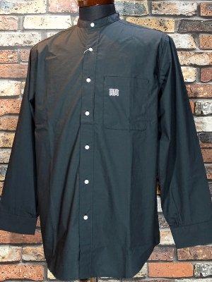 RealMinority リアルマイノリティー 長袖スタンドカラーシャツ(GRAFFTAG) カラー:ブラック