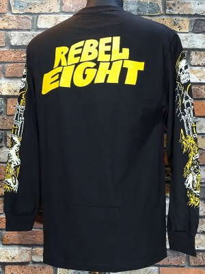 REBEL8 レベルエイト ロングスリーブTシャツ into the void long sleeve カラー:ブラック