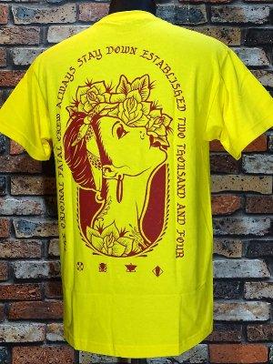 FATAL CLOTHING フェータル Tシャツ (ROSES) カラー:イエロー