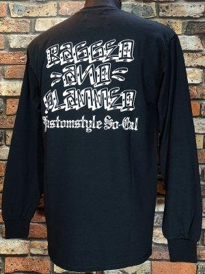 kustomstyle カスタムスタイル ロングスリーブTシャツ(KSTL1915BK) bagged and slammed long sleve tee カラー:ブラック