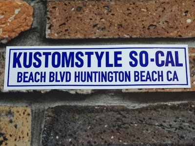 KUSTOMSTYLE カスタムスタイル ステッカー (KSD1914) HUNTINGTON BEACH CA BUMPER