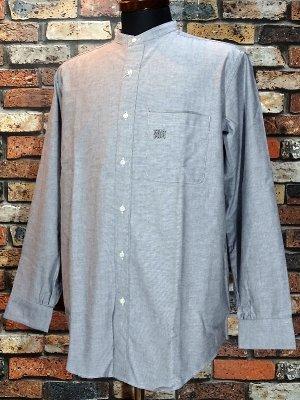 RealMinority リアルマイノリティー オックスフォード長袖スタンドカラーシャツ(GRAFFTAG)  oxford shirt  カラー:グレー