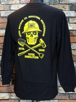 LOSER MACHINE ルーザーマシーン ロングスリーブTシャツ (demolition Longsleeve Tee) カラー:ブラック