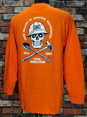 LOSER MACHINE ルーザーマシーン ロングスリーブTシャツ (demolition Longsleeve Tee) カラー:オレンジ