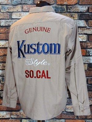 kustomstyle カスタムスタイル 長袖ワークシャツ (KSLS1917BE) modelo work shirts  カラー:ベージュ