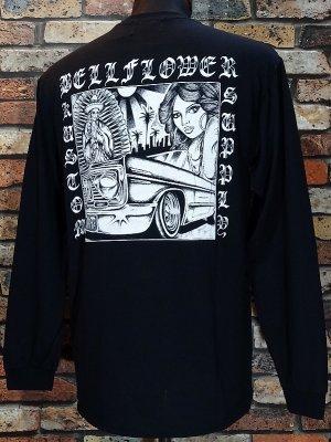 BellFlower ベルフラワー ロングスリーブTシャツ (BFTL1915BK) XII  long sleve tee カラー:ブラック