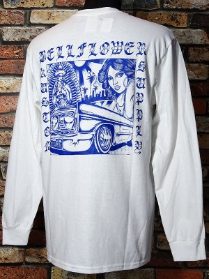 BellFlower ベルフラワー ロングスリーブTシャツ (BFTL1915WH) XII  long sleve tee カラー:ホワイト