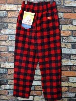 Cookman クックマン Chef Pants シェフパンツ ルーズフィット イージーパンツ (Nel Buffalo Check) コックパンツ カラー:レッド