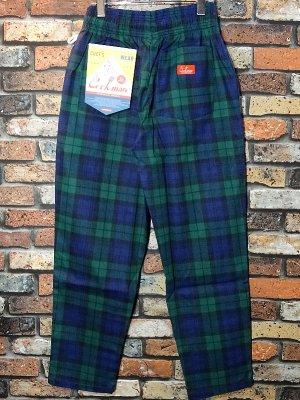 Cookman クックマン Chef Pants シェフパンツ ルーズフィット イージーパンツ (Black Watch Check) コックパンツ カラー:ネイビー×グリーン