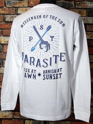 parasite パラサイト ロングスリーブTシャツ (YATA CROW) カラー:ホワイト
