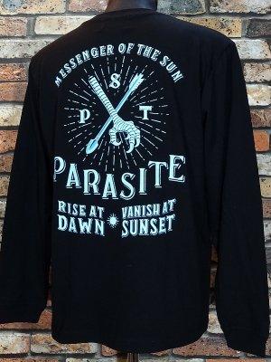 parasite パラサイト ロングスリーブTシャツ (YATA CROW) カラー:ブラック