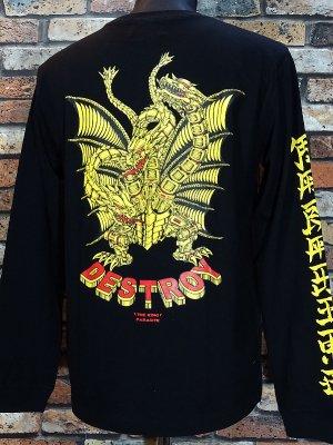 parasite パラサイト ロングスリーブTシャツ (DESTROY) カラー:ブラック