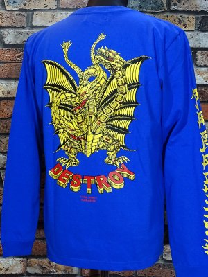 parasite パラサイト ロングスリーブTシャツ (DESTROY) カラー:ブルー