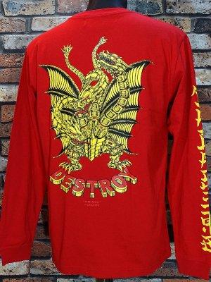 parasite パラサイト ロングスリーブTシャツ (DESTROY) カラー:レッド