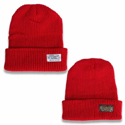 kustomstyle カスタムスタイル  ニットキャップ (KSKNC1901RD)eternal flame beanie カラー:レッド