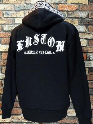 kustomstyle スウェットプルオーバーパーカー (KSP1810BK) mi vida loca bandana pullover hoodie カラー:ブラック