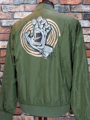 SANTA CRUZ サンタクルーズ  ジャケット (OFF HAND L/S BOMBER JACKETS) カラー:オリーブ