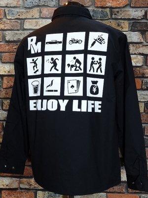 RealMinority リアルマイノリティー コーチジャケット (ENJOY LIFE) カラー:ブラック