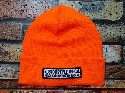 kustomstyle カスタムスタイル ニットキャップ (KSKNC1914OR) huntington beach ca beanie カラー:オレンジ
