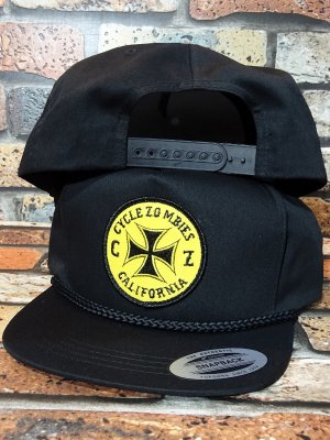 CYCLE ZOMBIES サイクルゾンビーズ  スナップバックキャップ (JUNK DEALER SNAPBACK) カラー:ブラック