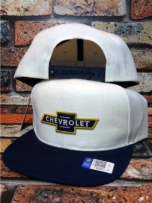 Brixton × Chevrolet スナップバック キャップ bowtie mp snapback cap (EL CAMINO WHITE)
