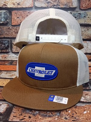 Brixton × Chevrolet メッシュキャップ michigan mp snapback cap (SILVERADO COPPER)