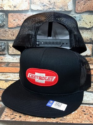 Brixton × Chevrolet メッシュキャップ michigan mp snapback cap (BEL AIR BLACK)