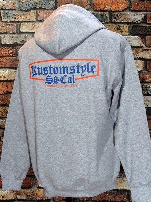 kustomstyle カスタムスタイル プルオーバー スウェットパーカー (KSP1712GY) supreme quality pullover hoodie カラー:グレー