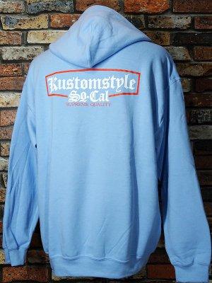kustomstyle カスタムスタイル プルオーバー スウェットパーカー (KSP1712LB) supreme quality pullover hoodie カラー:ライトブルー