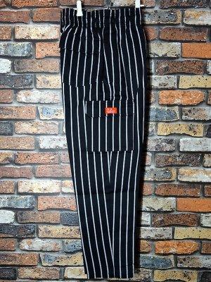 Cookman クックマン Chef Cargo Pants シェフ カーゴパンツ ルーズフィット イージーパンツ (Stripe) コックパンツ カラー:ブラック