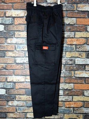 Cookman クックマン Chef Cargo Pants シェフ カーゴパンツ ルーズフィット イージーパンツ (Black) コックパンツ カラー:ブラック