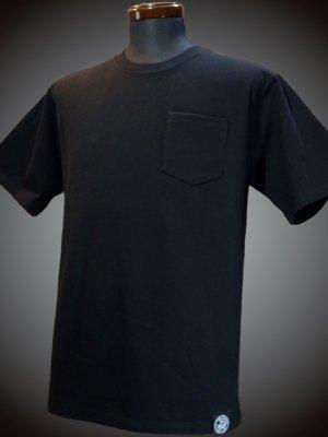 RealMinority リアルマイノリティー 10.2oz tough body ポケット付き無地Tシャツ (standard) カラー:ブラック