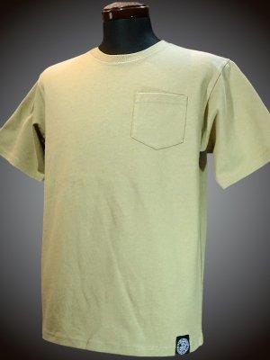 RealMinority リアルマイノリティー 10.2oz tough body ポケット付き無地Tシャツ (standard) カラー:サンドベージュ
