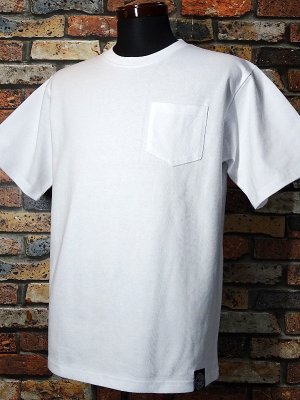 RealMinority リアルマイノリティー 10.2oz tough body ポケット付き無地Tシャツ (standard) カラー:ホワイト