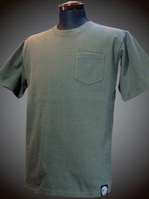 RealMinority リアルマイノリティー 10.2oz tough body ポケット付き無地Tシャツ (standard) カラー:オリーブ