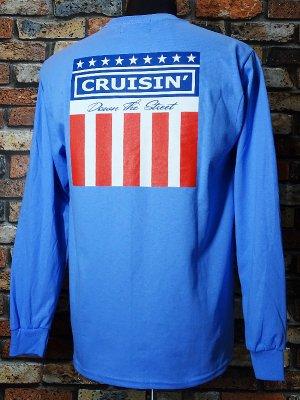 kustomstyle カスタムスタイル ロングスリーブTシャツ(KSTL2003CBL) classic wheels long sleve tee カラー:カロライナブルー