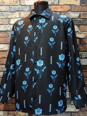 kustomstyle  カスタムスタイル リバーシブル コーチジャケット (KSLWJ2001SA) rose reversible all print jacket カラー:サンド/ブラック