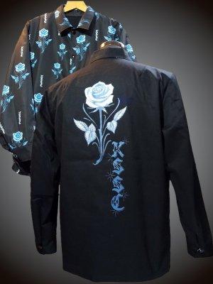 kustomstyle  カスタムスタイル リバーシブル コーチジャケット (KSLWJ2001BK) rose reversible all print jacket カラー:ブラック/ブラック