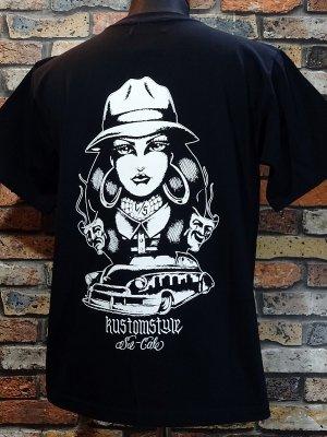 kustomstyle カスタムスタイル Tシャツ (KST2005BK) TWO FACE カラー:ブラック