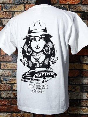 kustomstyle カスタムスタイル Tシャツ (KST2005WH) TWO FACE カラー:ホワイト